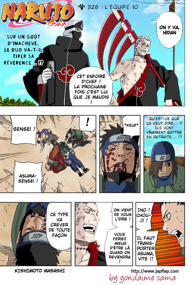 Naruto chapitre 328 colorisé - Page 1