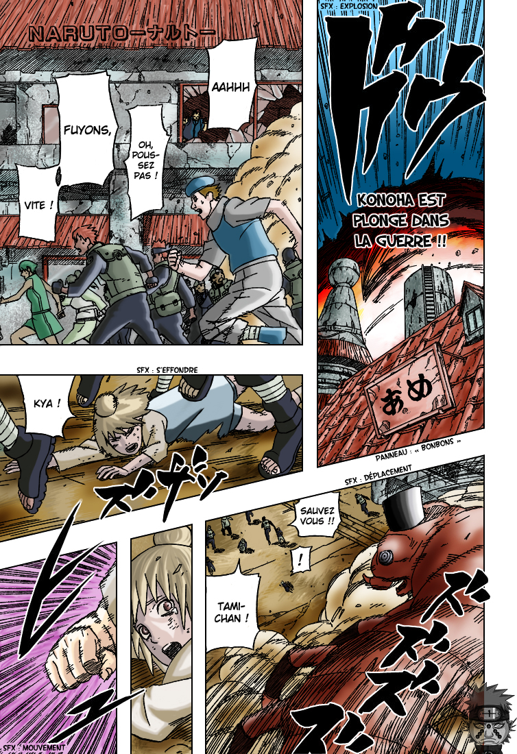Naruto chapitre 421 colorisé - Page 1