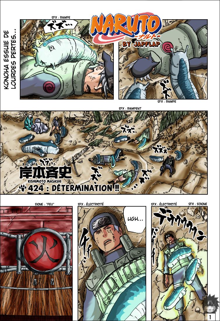 Naruto chapitre 424 colorisé - Page 1
