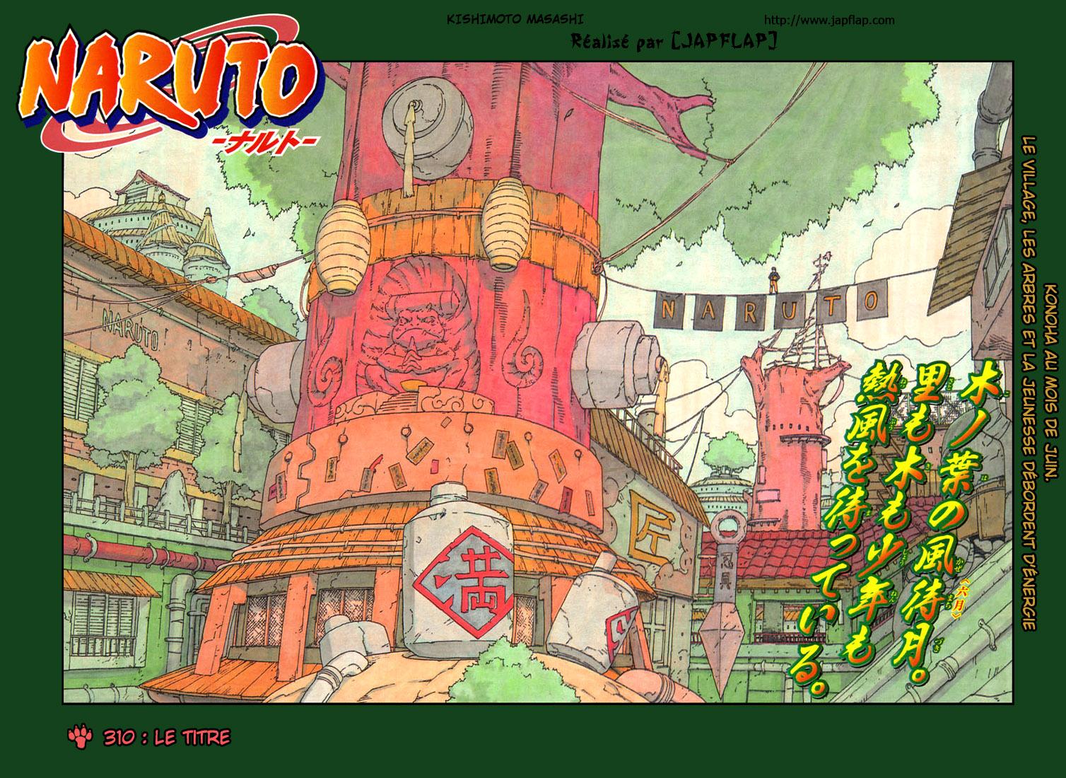 Naruto chapitre 310 - Page 1