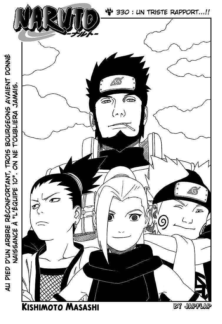 Naruto chapitre 330 - Page 1