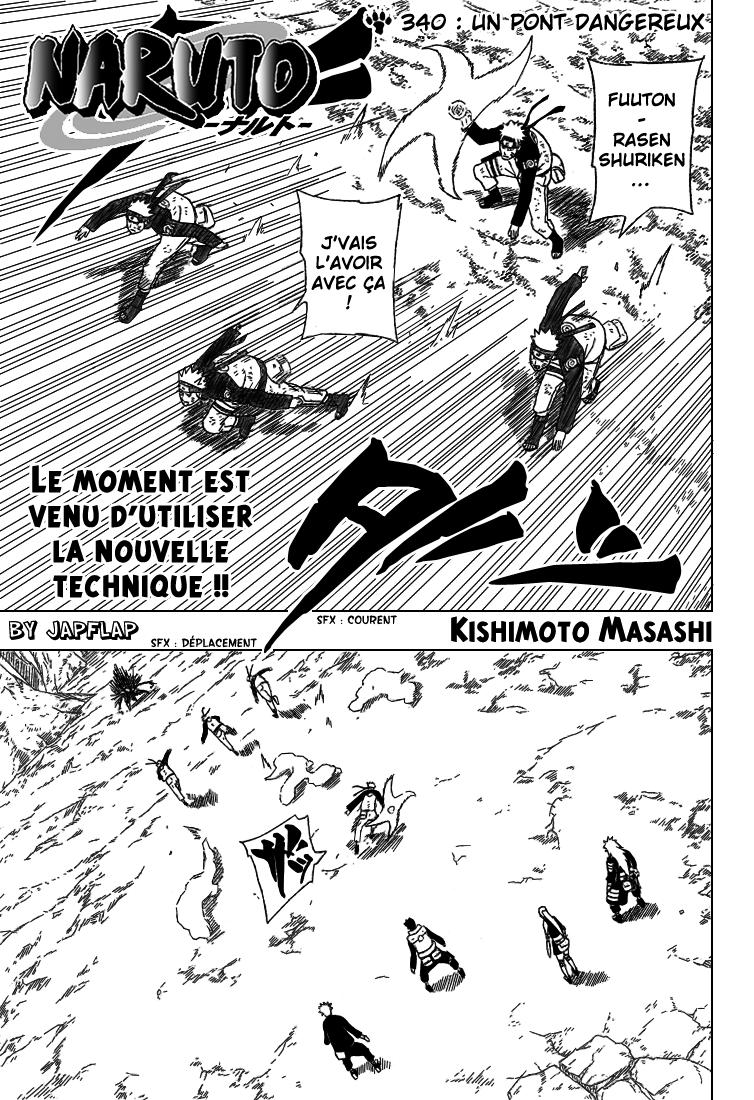 Naruto chapitre 340 - Page 1
