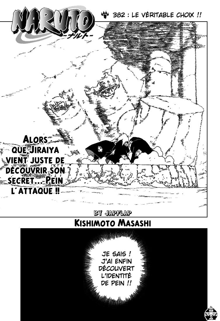 Naruto chapitre 382 - Page 1