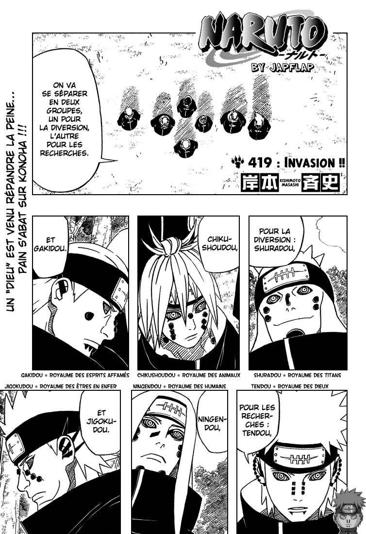 Naruto chapitre 419 - Page 1